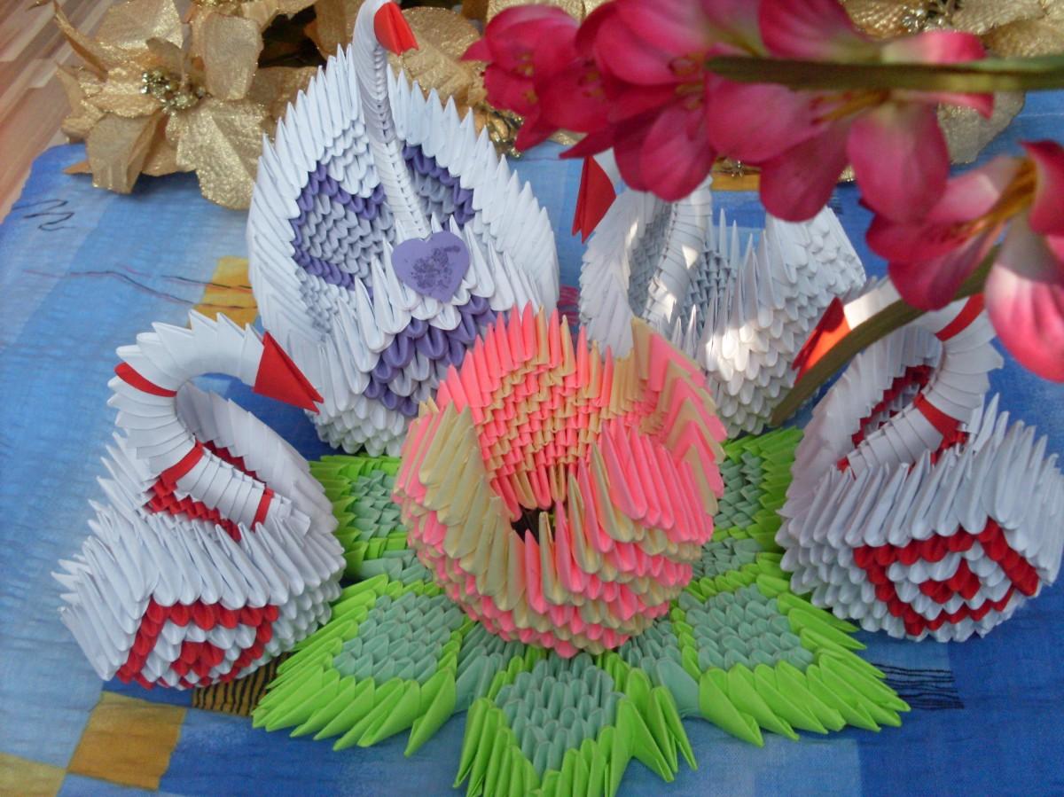 Nufărul origami 3D