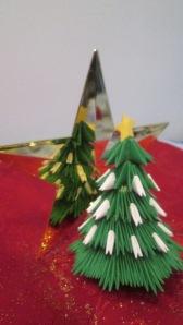 origami brad de craciun 3d