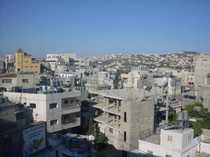 Privelişte asupra Betleemului de pe balconul hotelului